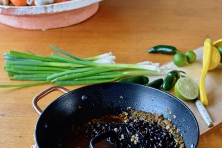 How to make black beans from a can perfectly every time. Step-by-step recipe for making a can of black beans into something spectacular in four easy steps. #cannedbeans #blackbeans #cannedbeansrecipe #bestblackbeans