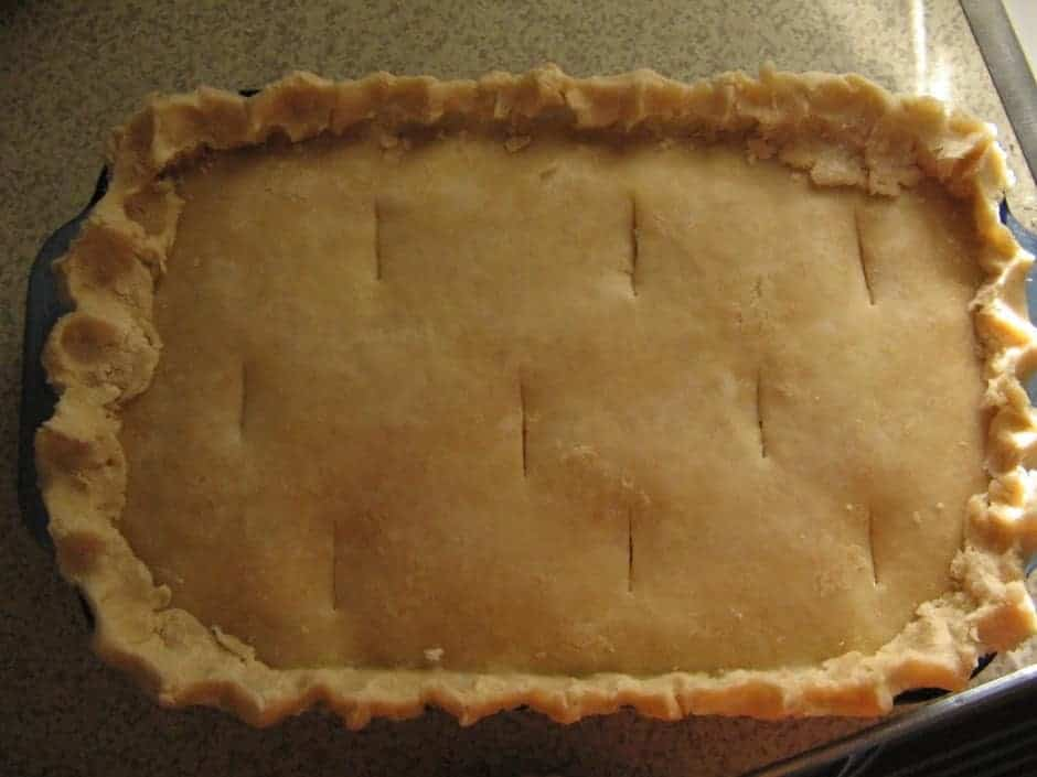 This dairy-free chicken pot pie is a yummy treat for the whole family. It may look like a sweet treat, but instead its a delious dinner! #chicken #potpie #chickenpotpie #dairy-free #familydinner
