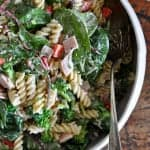 Ham and Broccoli Pasta Salad with Yogurt Dressing