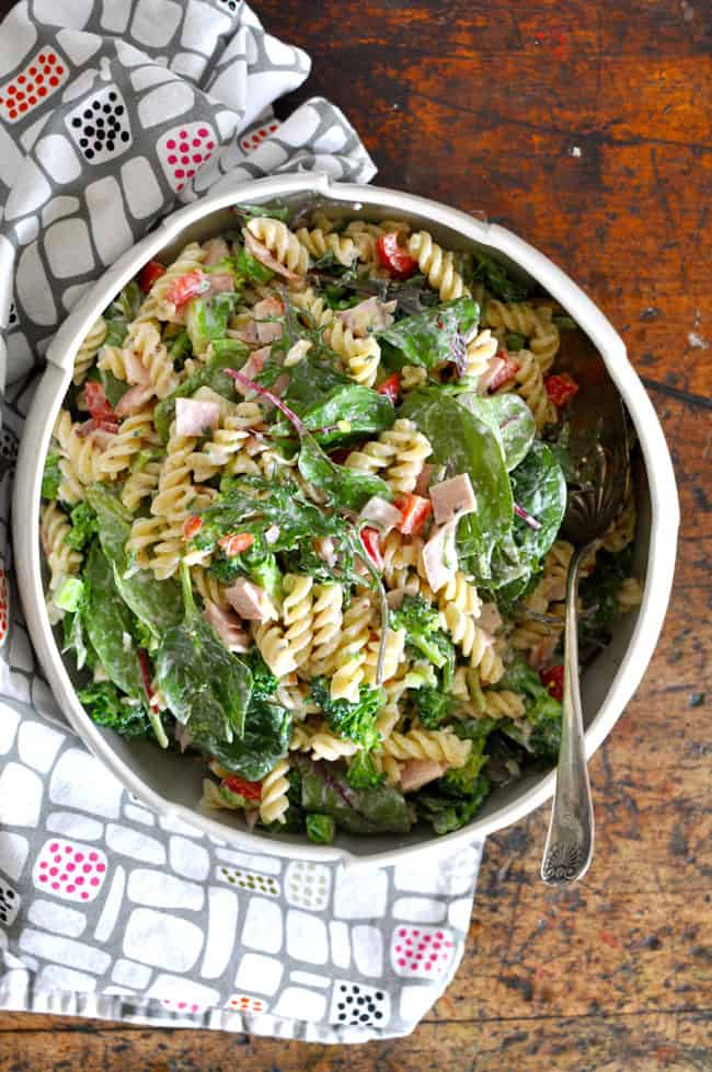 Broccoli and Ham Pasta Salad Recipe