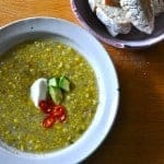 Sweet Corn and Chard Soup