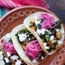 New Potato and Chard Tacos