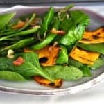 Buttercup Squash and Spinach Salad
