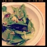 Greens with Pomegranates and Pickled Shallots