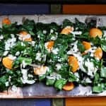 Chard and Persimmon Salad with Coconut