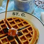 Sweet Corn Waffles with Strawberry-Jalapeño Butter
