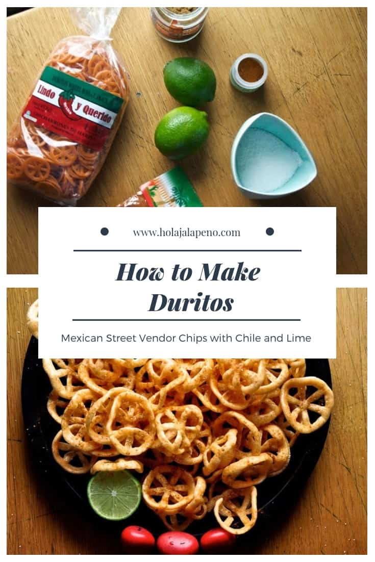 Crunchy chicharrones de harina are a popular Mexican street snack made from wheat and sprinkled with chili and lime. Learn how to make these addictive snacks at home. #chicharrones #duritos #chicharronesdeharina #vegan #duros