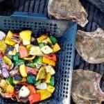 Grilled Green Mole Pork Chops