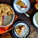Join me in enjoying the most delicious pie combination ever: Sour Cherry Apple Pie with a flaky cheddar cheese crust. A little sour, a little sweet, dreamy.