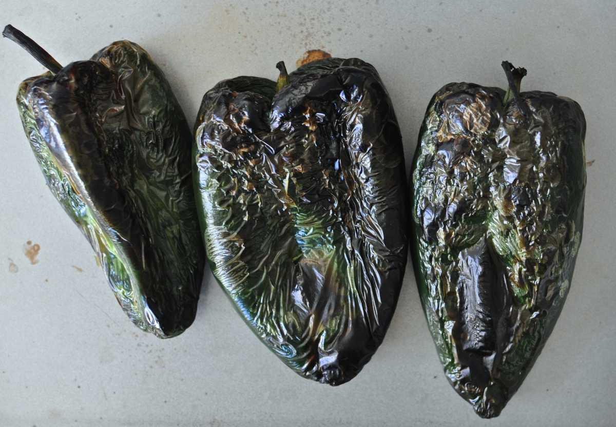 Charred Poblano Chiles