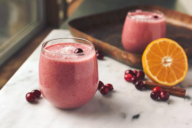 Orange Cranberry Coconut Smoothie from Tasty Yummies