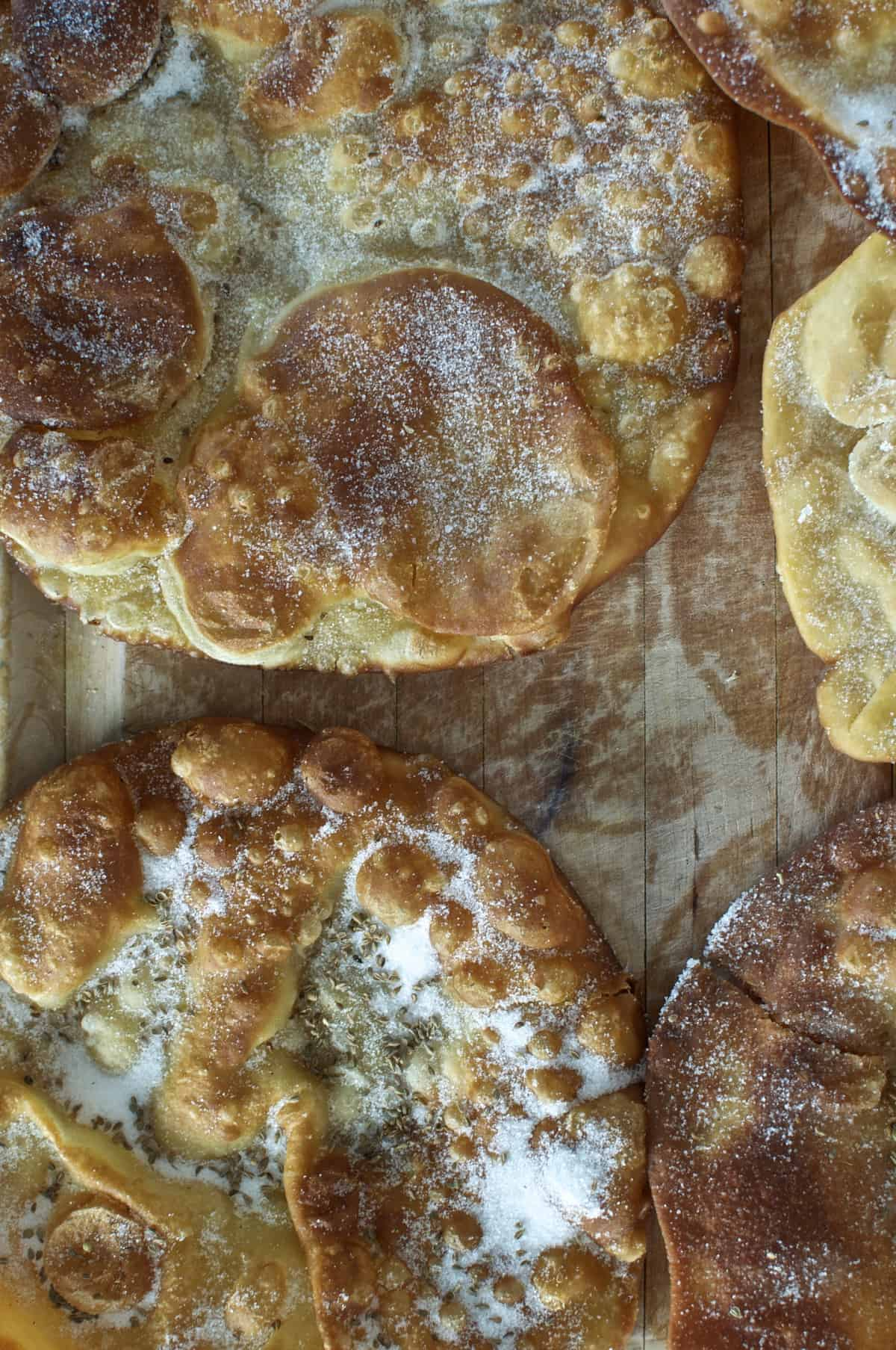 Buñuelos {Mexican Sugar Crisps with Anise Seed}