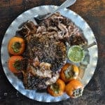 This Slow Roasted Pork Shoulder is a delicious holiday meal that requires no work. Coat the roast with garlic and orange zest and roast until super tender.