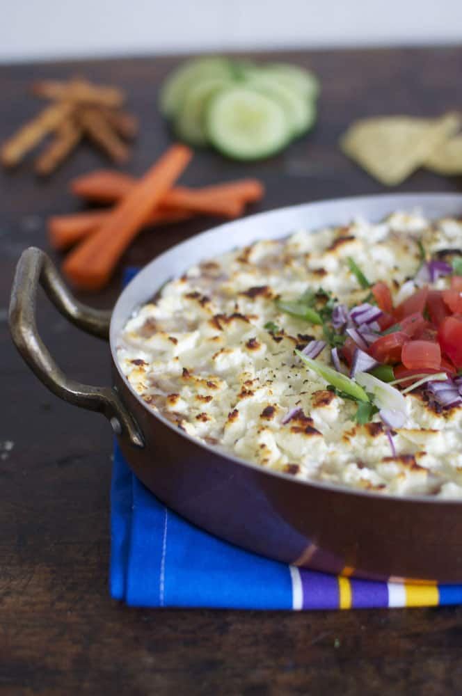 Warm Black Bean Dip with Feta