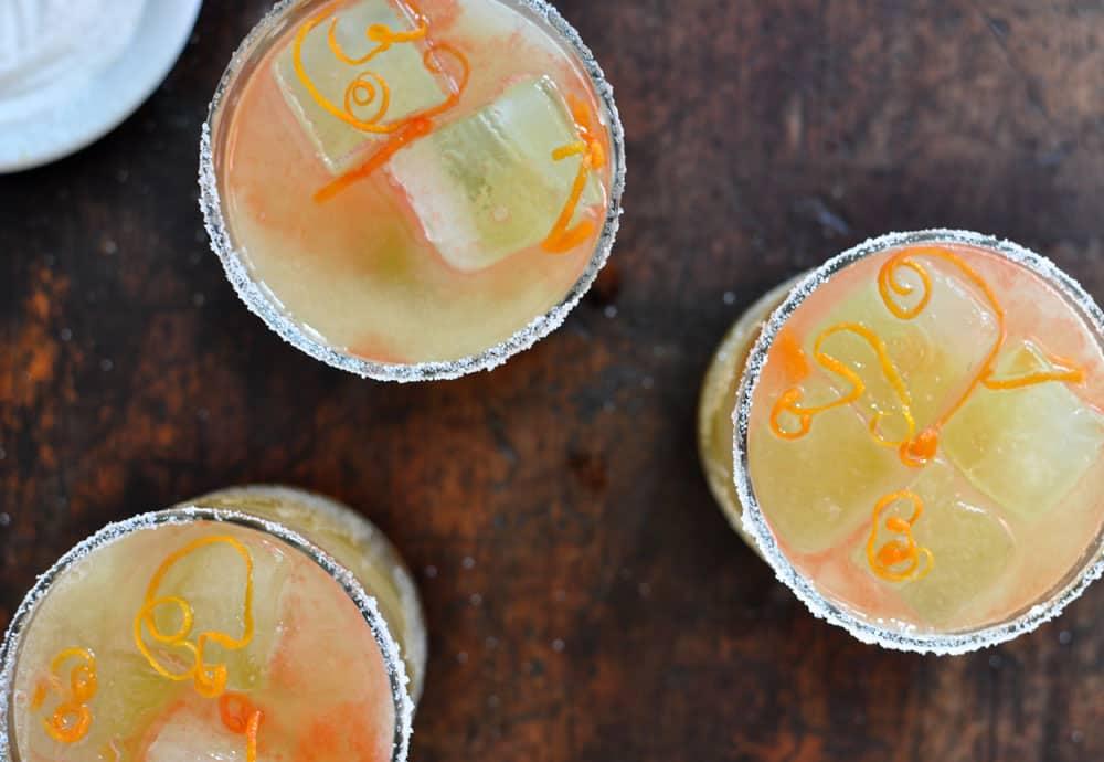 Fizzy Mezcal Margarita with Orange