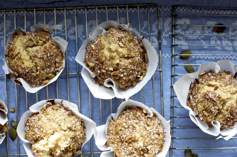 Cinnamon Pumpkin Seed Muffins