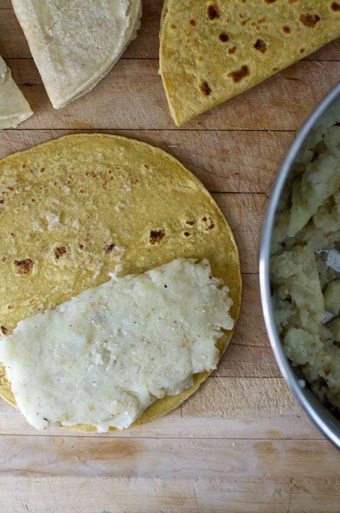 Making Potato Tacos