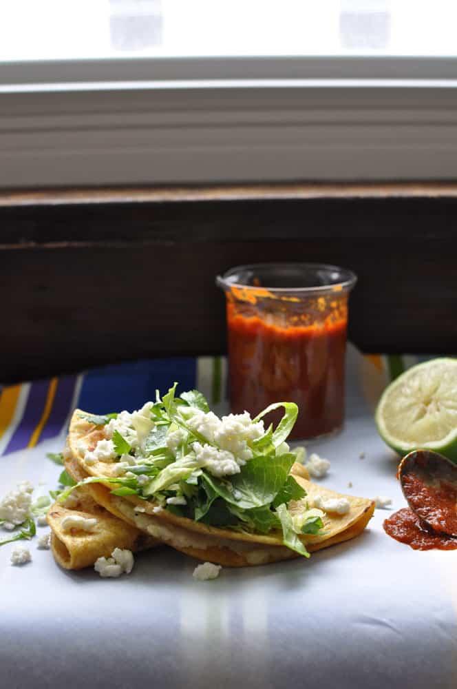 Potato Tacos with Guajillo-Orange Salsa