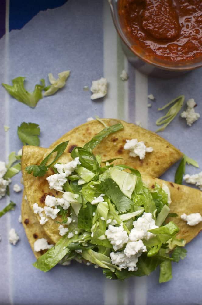 Potato Tacos with Guajillo Salsa