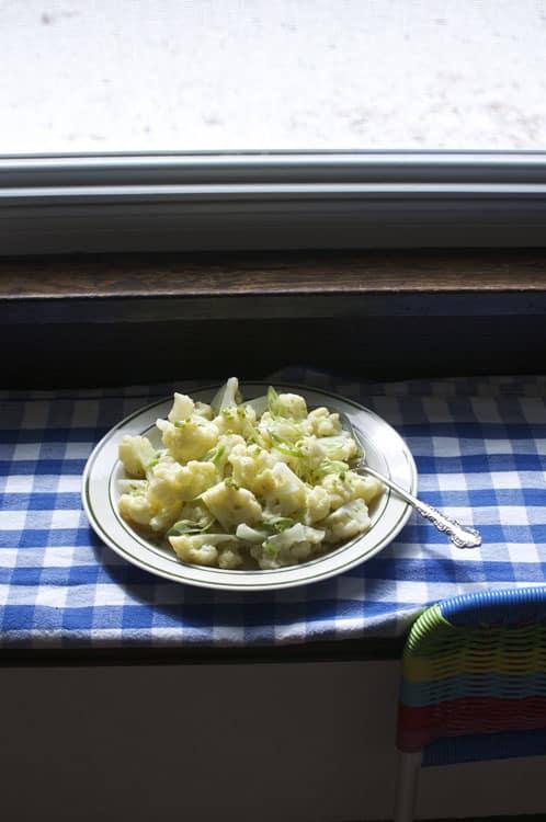 warm cauliflower