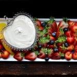 Sour Cream Fruit Dip with Brown Sugar + Vanilla