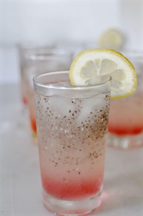 Chia Rhubarb Lemonade