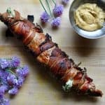 Grilled Cotija-Stuffed Pork Tenderloin Wrapped in Bacon