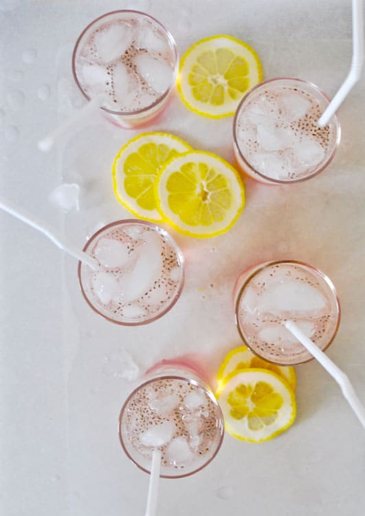 Rhubarb Chia Lemonade