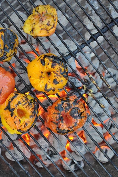 charring tomatoes