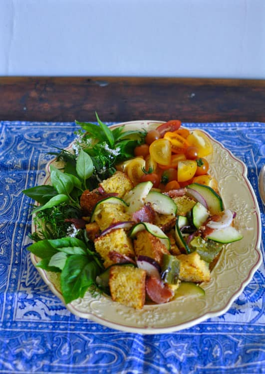 Cornbread Panzanella with Bacon