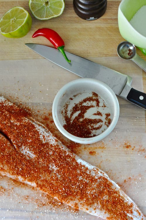 Chile Rubbed Fish