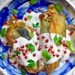 How to make Chiles en Nogada or Stuffed Poblano Chiles, the traditional Mexican dish served on Dies y Sies de Septiembre or Mexican Independence Day.