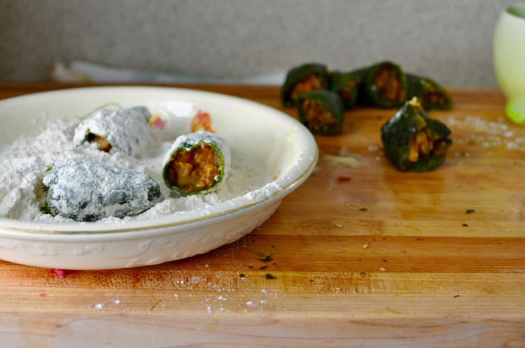 Chiles Rellenos with Walnut Sauce