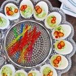 Mayo-Free Guacamole Deviled Eggs