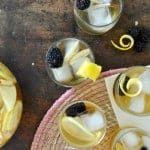 This hard cider sangria is just like traditional wine-based sangria except it is made from hard apple cider instead! With fresh blackberries it is yummy!