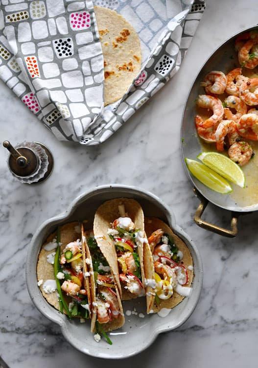 weeknight shrimp tacos