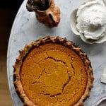 Buttermilk Pumpkin Pie with Bourbon Vanilla Whipped Cream
