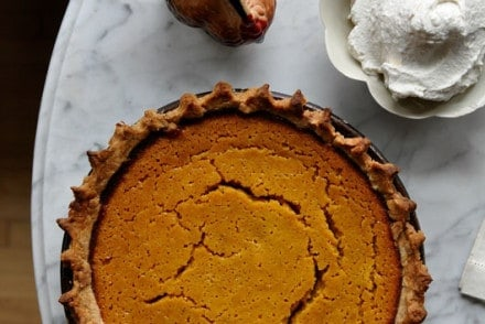 This buttermilk pumpkin pie is a tart version of the classic pumpkin pie and a refreshing alternative to the overly spiced desserts we're used to.