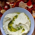 This cilantro jalapeño hummus adds a little Mexican flare to everyone's favorite dip with fresh cilantro, fiery jalapeños, and cumin.