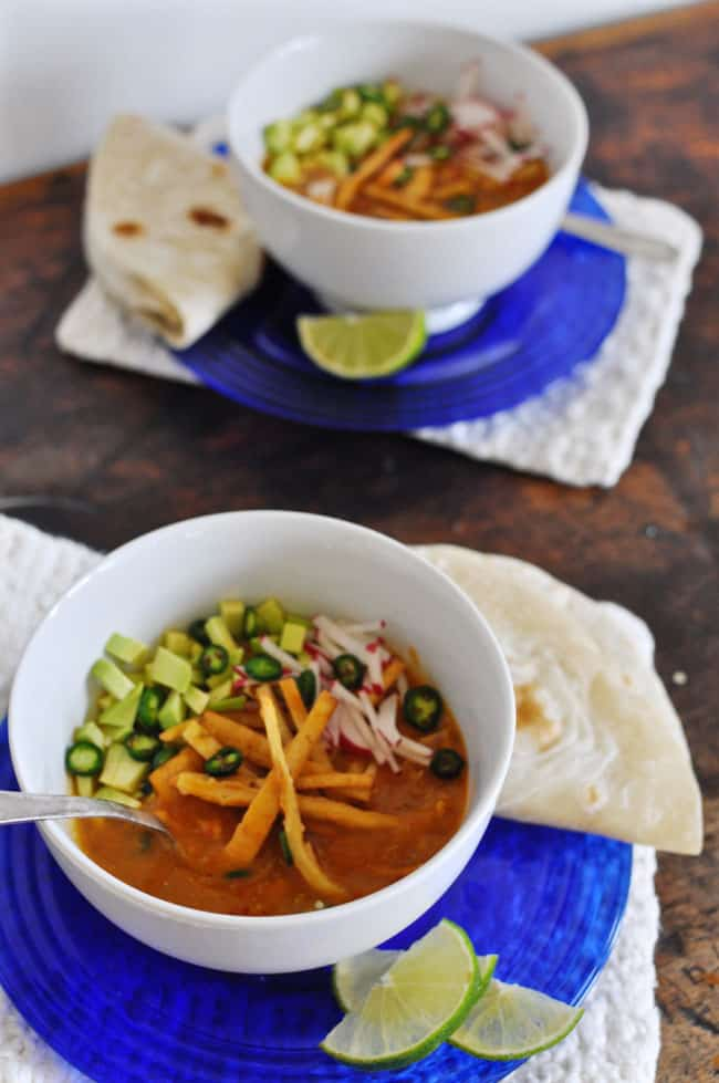 Leftover Turkey Tortilla Soup Recipe