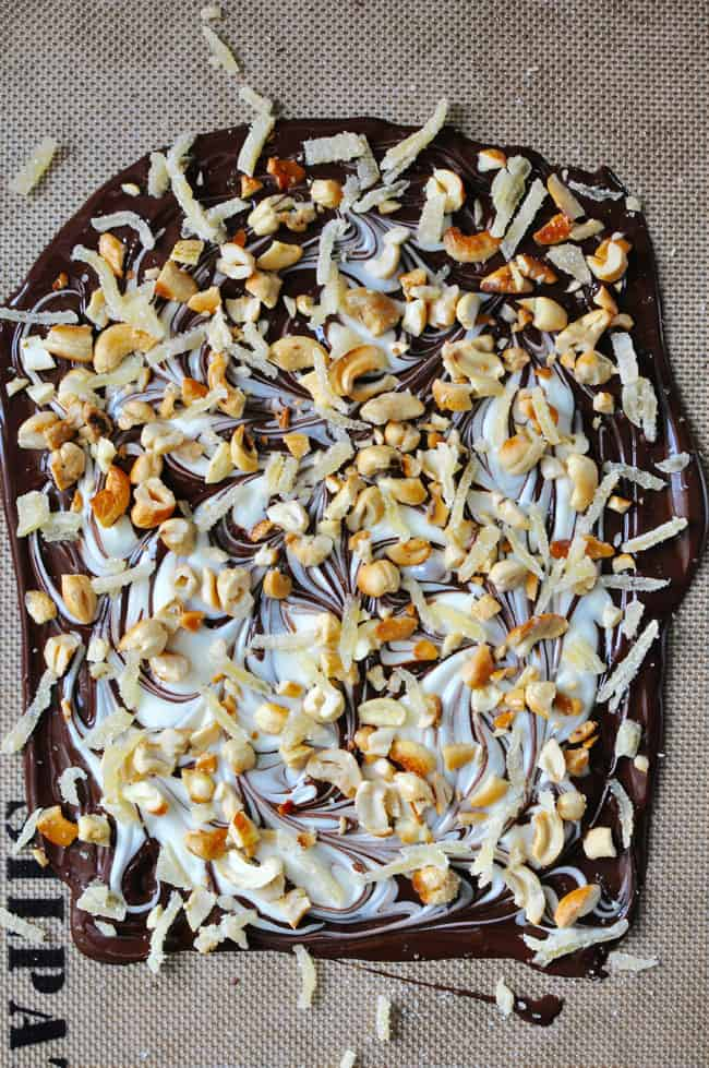 Dark and White Chocolate Bark Recipe