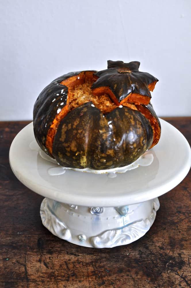 pumpkin stuffed with chorizo recipe