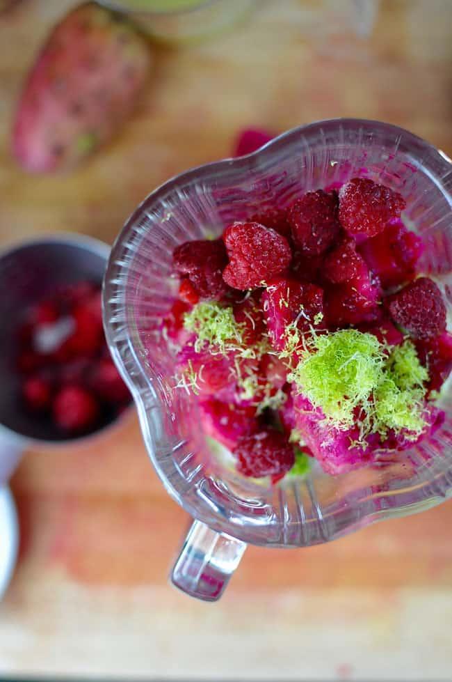 Raspberry Prickly Pear Agua Fresca Recipe