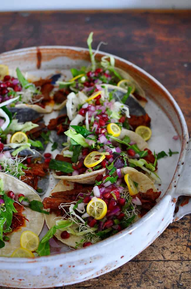 Beef Tacos with Pomegranate Salsa Recipe