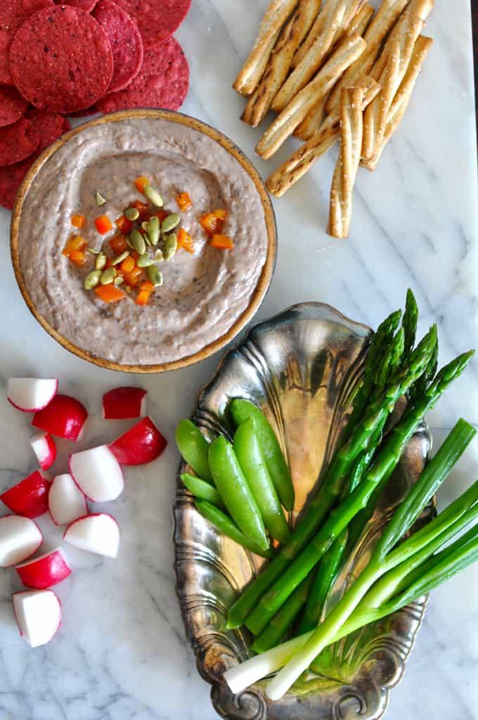 Red Pepper Black Bean Hummus Recipe