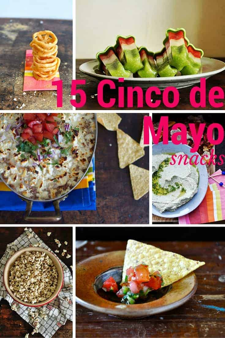 15 Cinco de Mayo Party Snacks for your epic Cinco de Mayo fiesta! These recipes are for a fun Mexican-themed gathering--you can never have too many snacks!