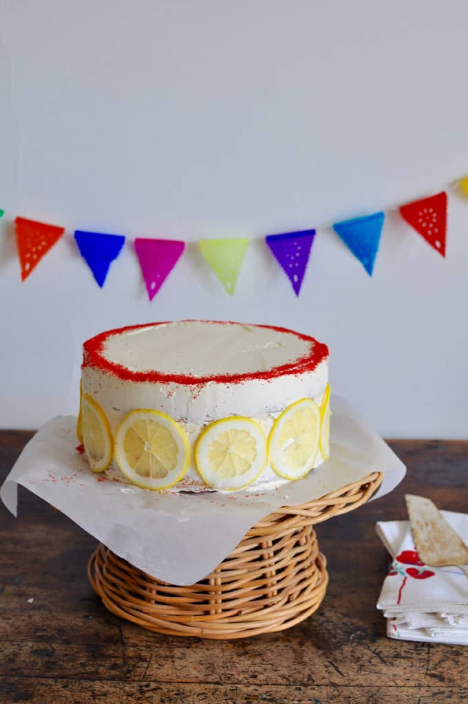 Vegan Double Layer Lemon Cake Recipe