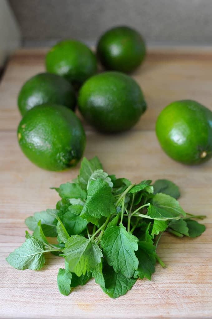 Lemon Balm Lime Paletas Recipe