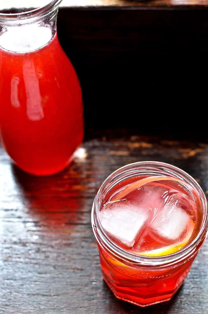 This rhubarb agua fresca is the perfect spring and summer non-alcoholic drink. Made from fresh rhubarb it is as sweet and tart and full of rhubarb flavor.