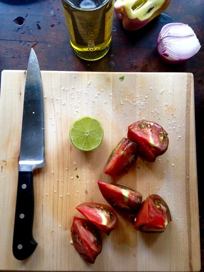 Mexican Gazpacho with Avocado and Grilled Sumac Shrimp Recipe